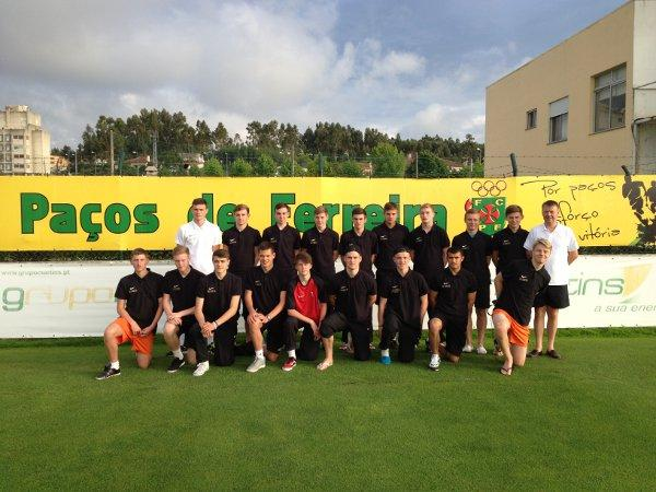 The boys are pictured on their end of season tour of Portugal