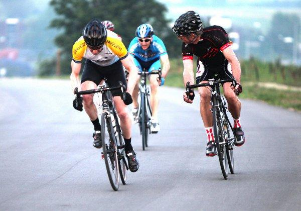 Richard Bettaney winning his race at Cyclopark. PICTURE BY ROGER BETTANEY.
