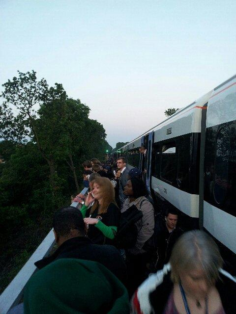 200 people had to leave the train when it caught fire. Picture by Brian Milligan