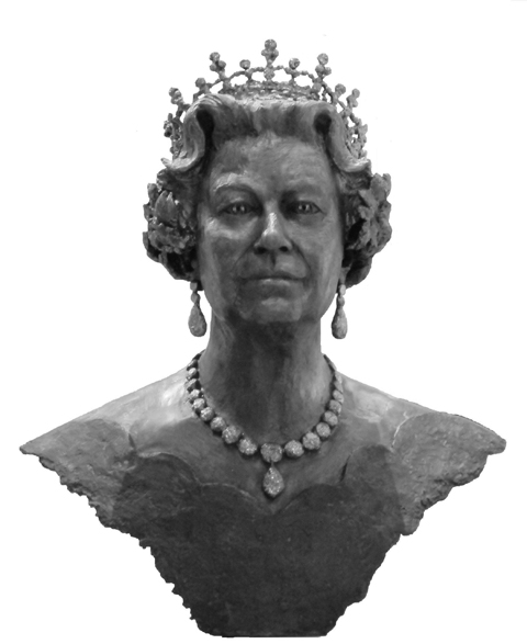 The sculptured bust of the Queen planned for Bexleyheath Clock Tower