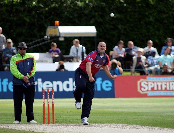 James Tredwell in action against Surrey on Sunday. EDMUND BOYDEN.