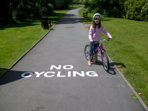 "The council said the cycle ban has always been applied ""with sensitivity and discretion"""