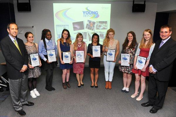 Last year's winners in the Young Reporters' scheme