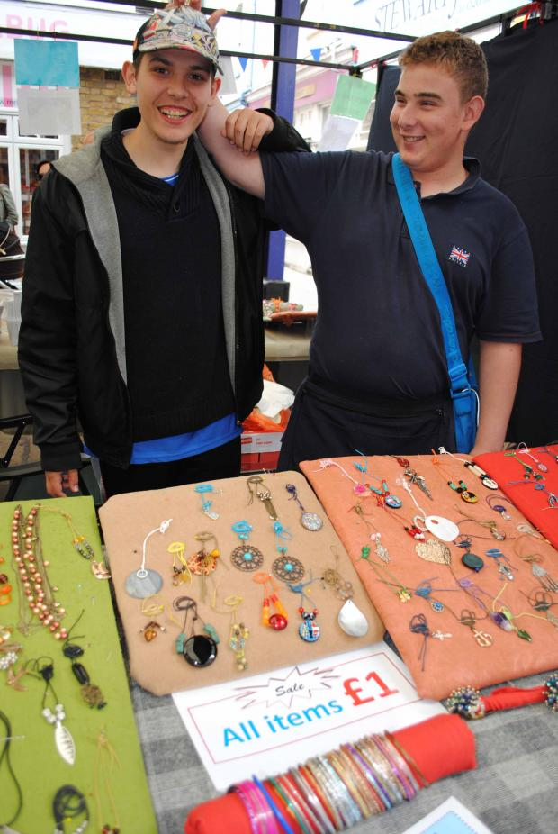 Jamie Kinsman and Anthony Ghannam from class FE2 Charlton School