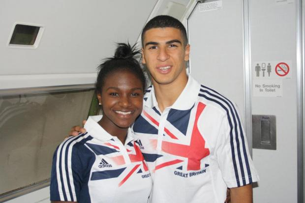 Adam Gemili and Dina Asher Smith (Sophie Papps photography)