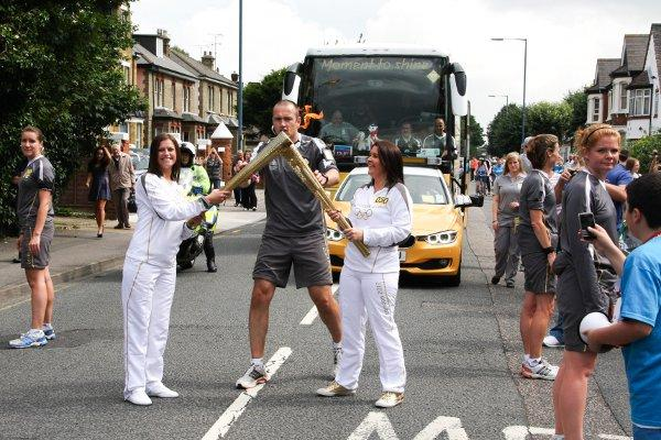The Olympic Torch in Pelham Road.
