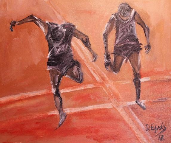 Olympic art captures beauty of movement during the Games