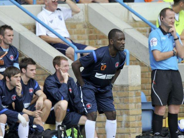 It was a tough day for Chris Powell in the Priestfield dugout. PICTURES BY KEITH GILLARD.