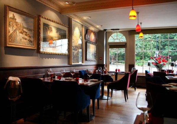 The airy dining room of the newly-refurbished Spread Eagle