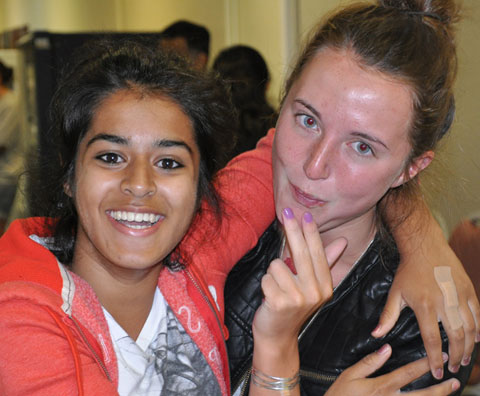 Bromley High School students Radhika Gupta and Erin O'Loughlane
