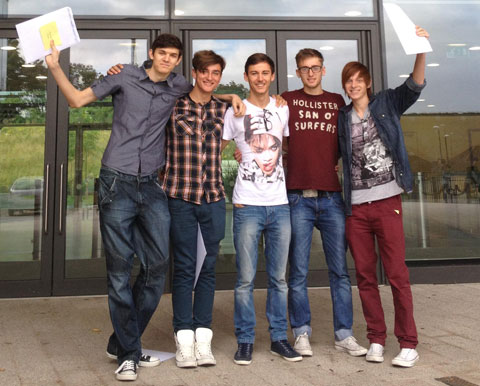 Longfield Academy A-level students