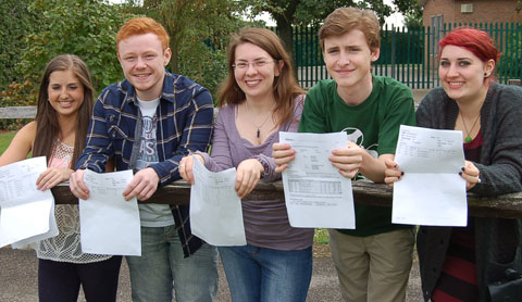 Erith School students Hannah Russell, Joseph Honeywood, Danielle Leigh, Will Heather and Ellis Criddle