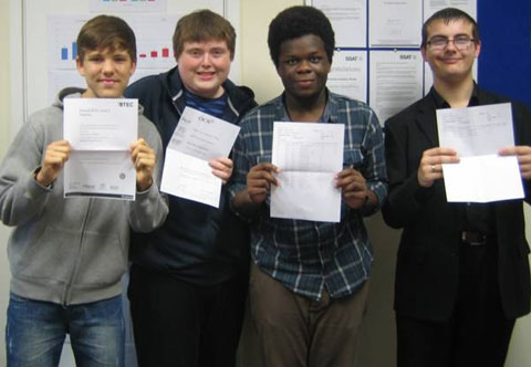 Business Academy Bexley students Albert Townley, Matthew Knight, Gbolahan Gbadamosi and Joseph Perkins