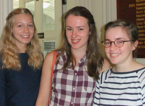 A trio of Sydenham High School A-Level students