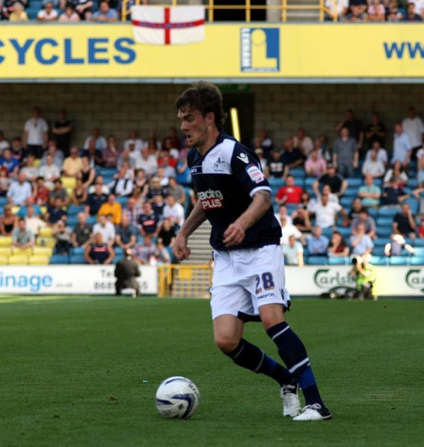 Scott Malone (above) scored his first Millwall goal. PICTURE BY EDMUND BOYDEN.