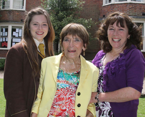 Gad's Hill pupil Eleanor Kift with her mum Louise and gran Pauline who also attended the school