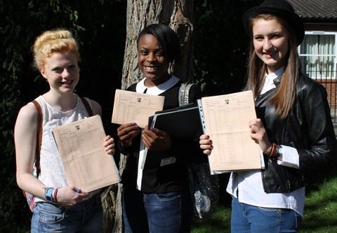 Pupils of Beaverwood School in Chislehurst, Kaylee Saint Clair, Doyin Agbonin, Harriet Whittle, all aged 16