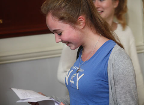 Elizabeth Treece finds out she has a full set of 11 A*s at Sydenham High School