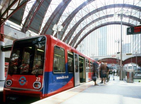 The DLR. Picture courtesy of Transport for London