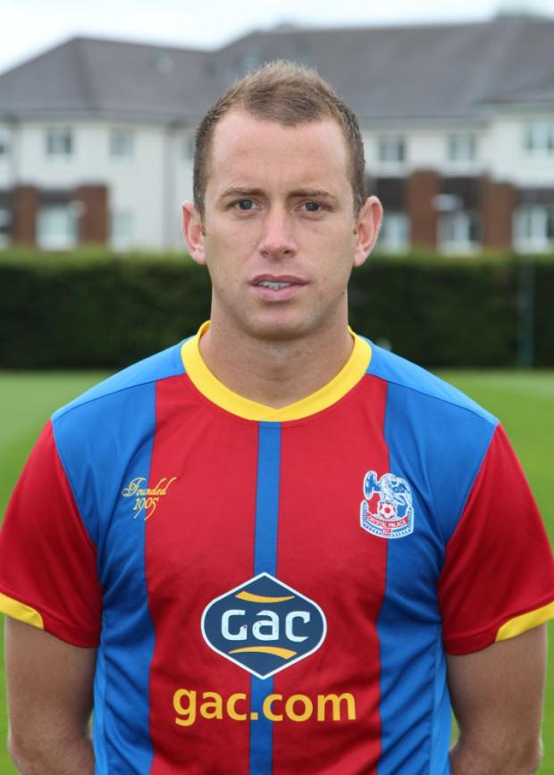 Summer signing Aaron Wilbrham (above) scored Palace's first half goal