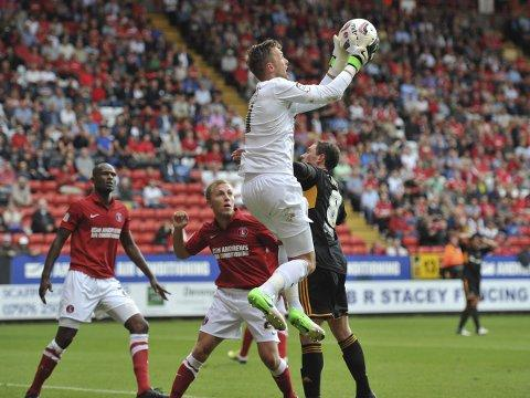 Ben Hamer makes a save in August's 0-0 Valley draw with Hull. PICTURE BY KEITH GILLARD.