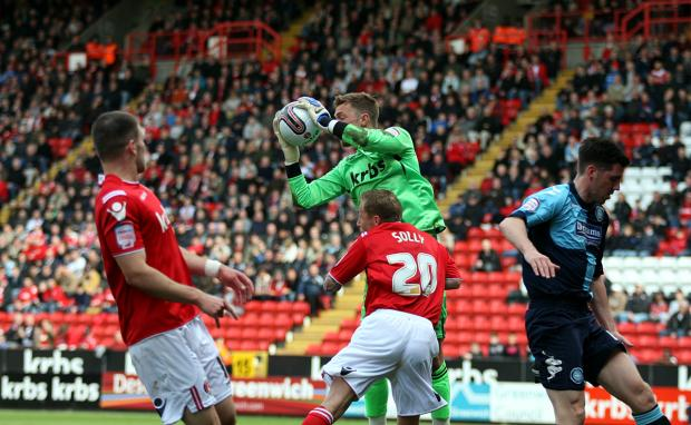 Ben Hamer (above) was beaten by Lewis McGugan's first half free-kick. EDMUND BOYDEN.