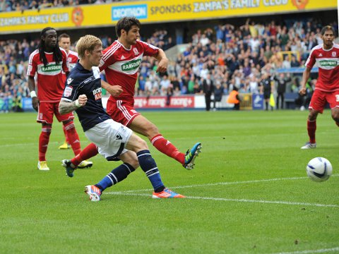Keogh scores his first and Millwall's second