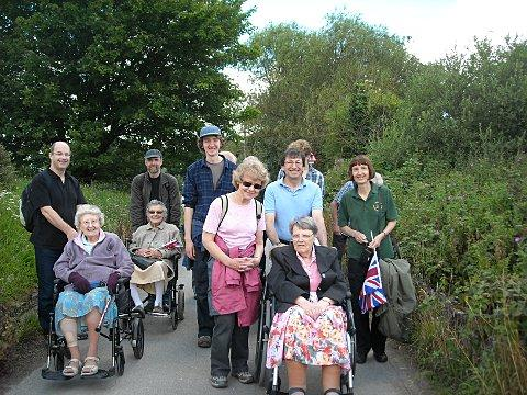 Southmore Court residents and members of the Friends of Jubilee Country Park group on the walk
