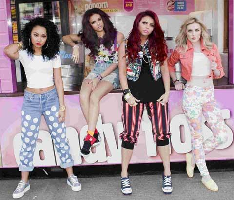 News Shopper: NUMBER ONE: Perrie Edwards, right, and the rest of Little Mix
