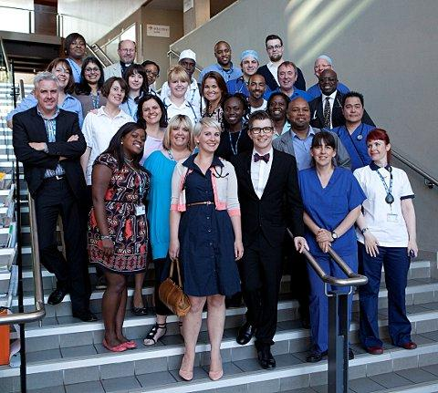 Gareth Malone with the Lewisham choir
