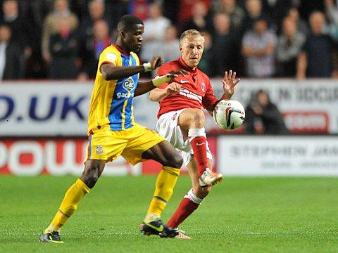 Chris Solly was one of the few Charlton players to escape Matias Grez's wrath. KEITH GILLARD.