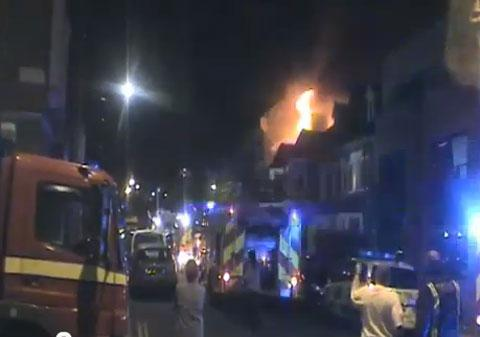 The fire in Tredown Road, Sydenham is believed to have started in a bedroom