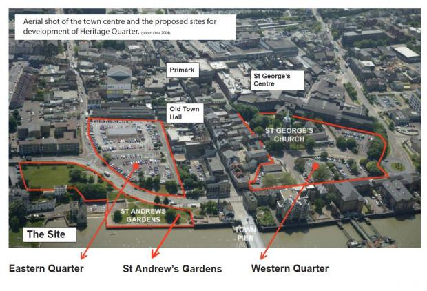 News Shopper: The three areas in Gravesend that are set to be revamped.