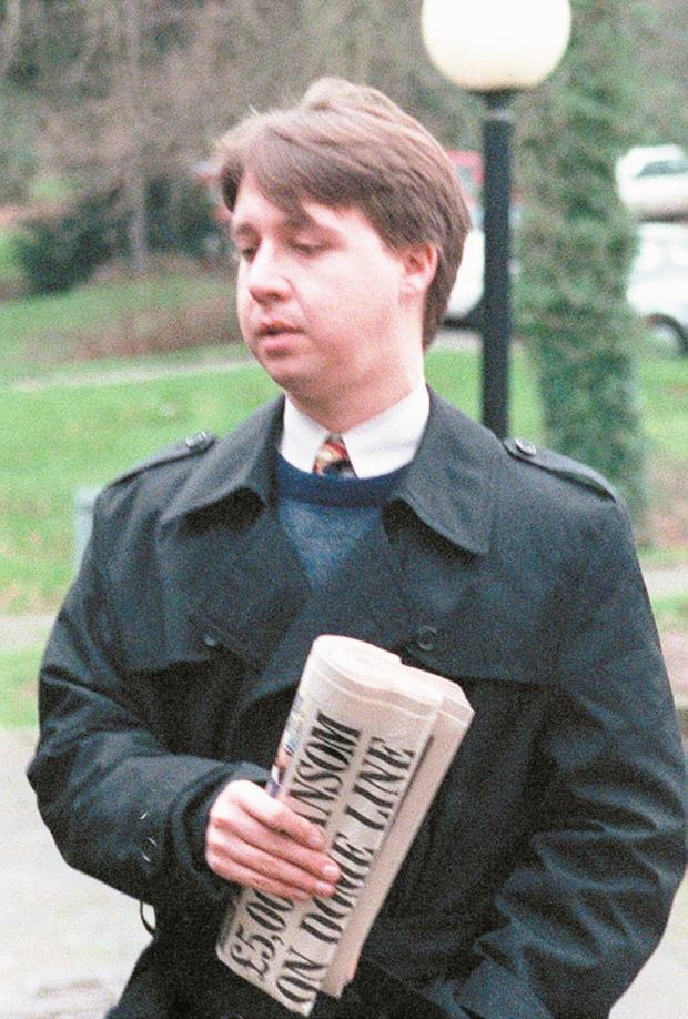 Gavin Seagers, pictured before being sentenced for his involvement in The Wonderland Club in 2001.