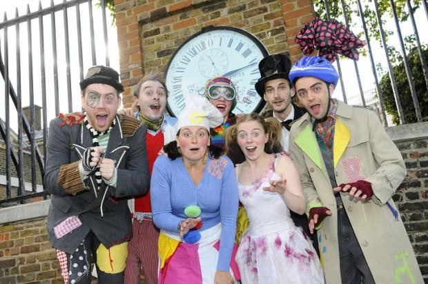 Clockheart Boy cast visit a significant landmark in Greenwich ahead of showtime