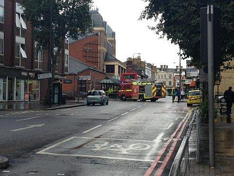 Thirteen people injured as two buses crash in Bromley. Picture by Olly Groome