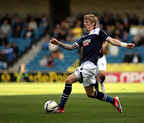 Andy Keogh drives forward
