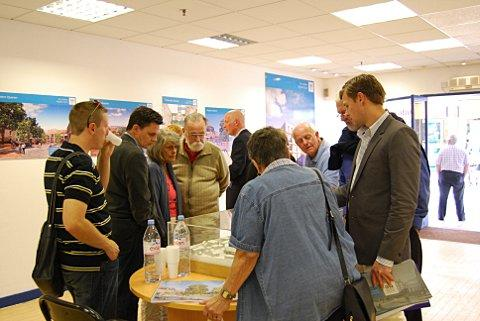 Members of the public look at the plans to revamp Gravesend's Heritage Quarter.