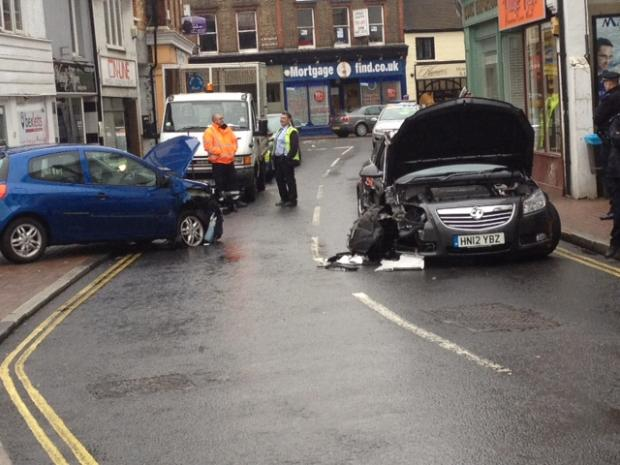 The scene of the collision in Bexley High Street.