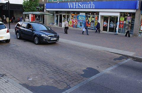 Parts of Orpington High Street have had to be patched up