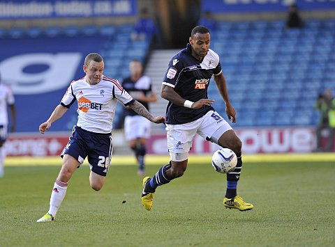 Liam Trotter fends off Jay Spearing