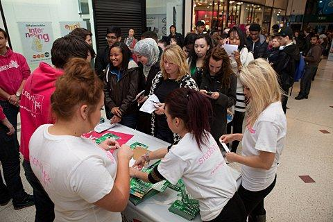 Students enjoy the shopping extravaganza