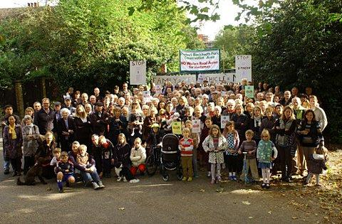News Shopper: Blackheath Cator Estate unites against Huntsman housing project 'danger' road