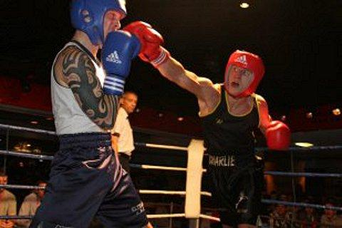 Boxer Charlie Wynn in action