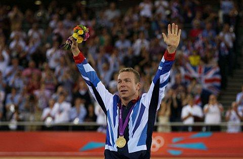 Sir Chris Hoy was the ninth most inspirational athlete