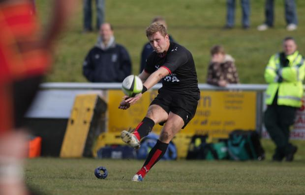 Club fly-half Oli Grove.  Photo: Helen Watson