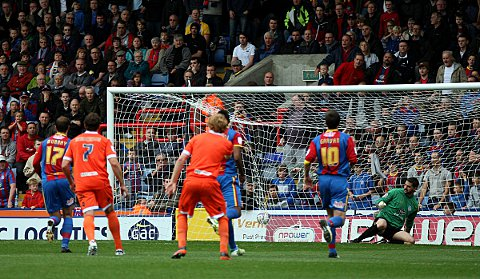 Julian Speroni is  beaten by Liam Trotter's penalty