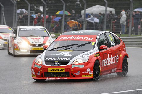 Race two winner Aron Smith leads race one winner Matt Neal and 2012 champion Shedden