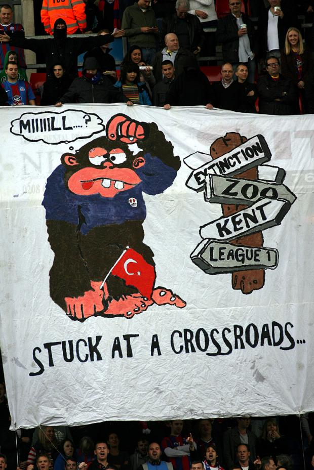 The banner is unfurled in the Holmesdale. PICTURE BY EDMUND BOYDEN.