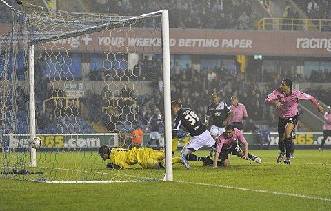 Chris Wood scores. PICTURES BY ALAN STANFORD.